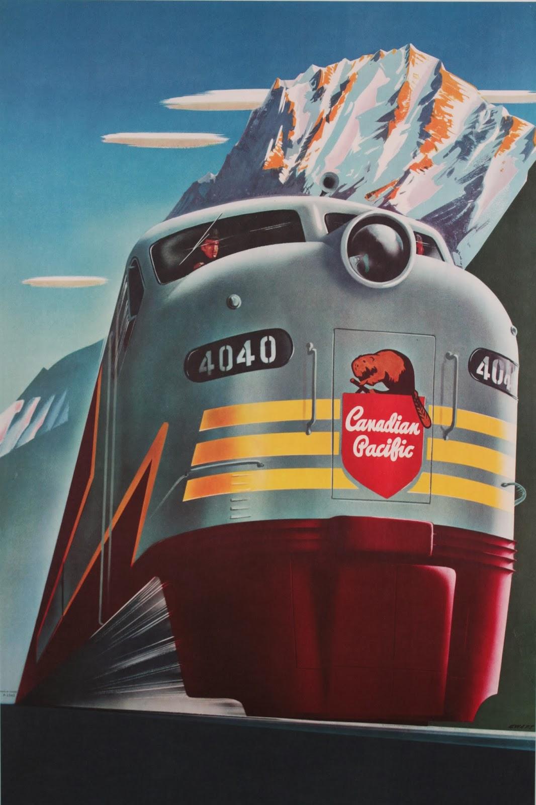 Vintage Train Poster |... Vintage Train Poster