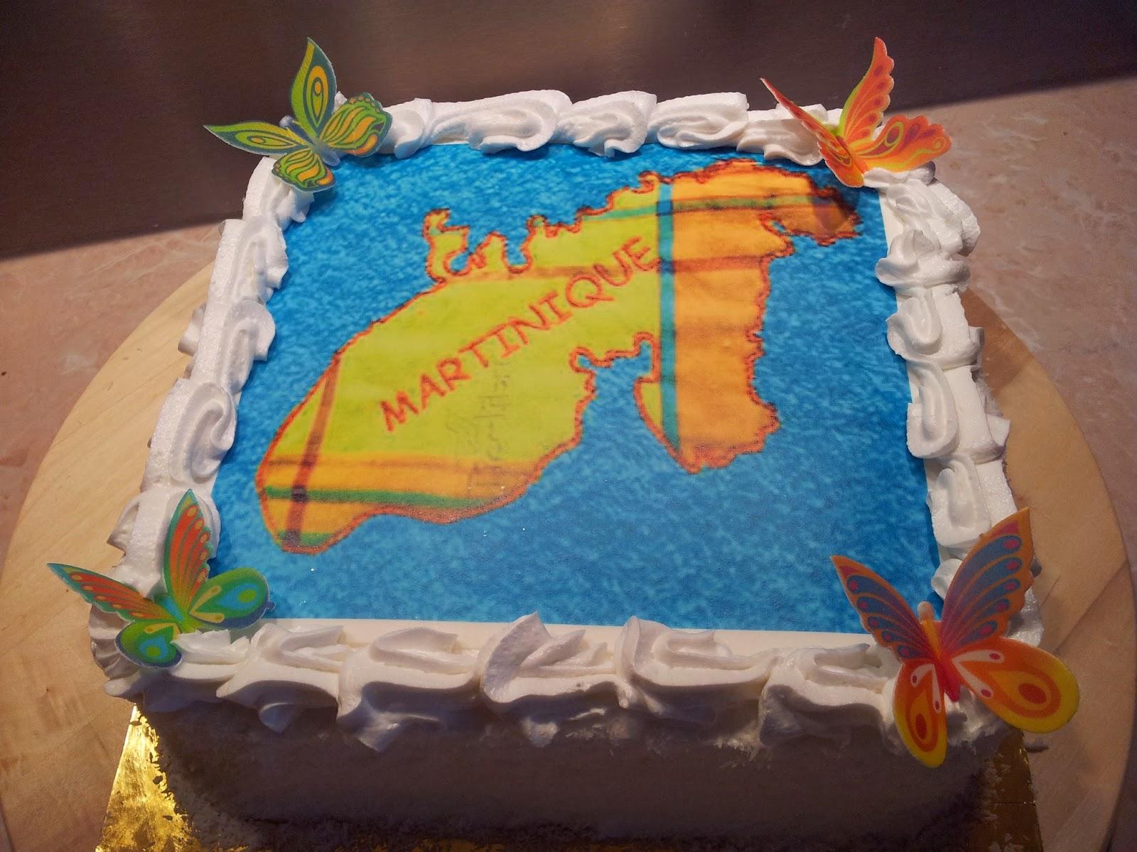 La Pâtisserie de Brunette: gâteau carte Martinique