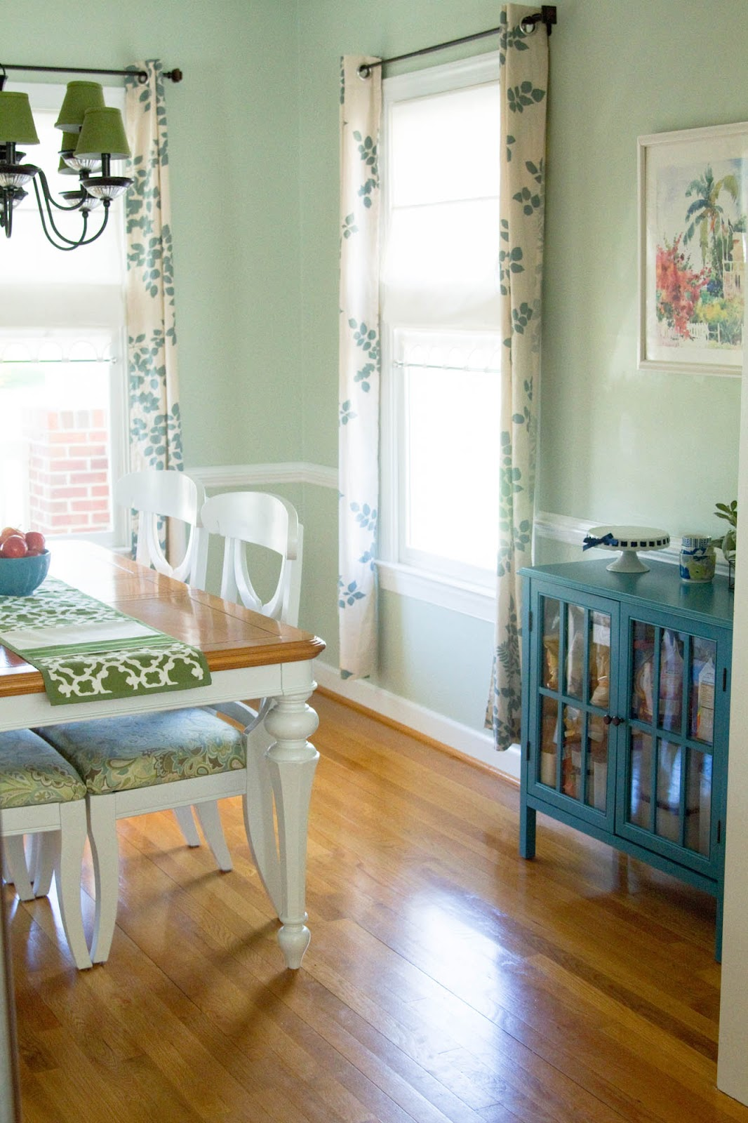 Little Bits of Home: Dining Room Progress: Curtains + Storage