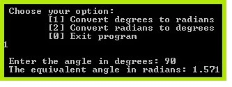 rradians to degrees calculator