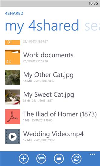 Aplikasi 4shared Untuk Windows Phone