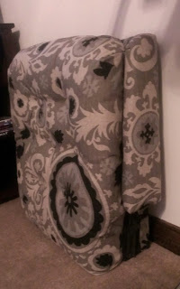 Re-covered back cushion