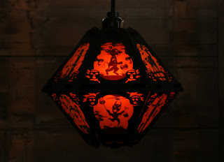 Spooky paper Halloween lantern in vintage style by Bindlegrim