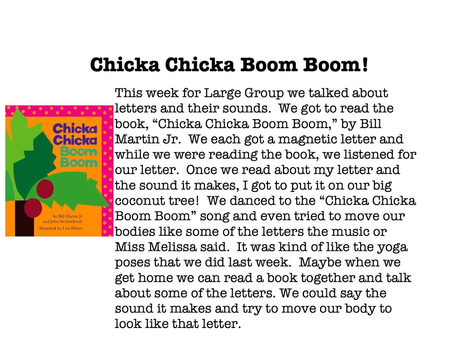 Miss Melissas Speech Chicka Chicka Boom Boom – Chicka Chicka Boom Boom Worksheets