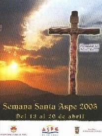 Cartel Oficial Semana Santa de Aspe 2003