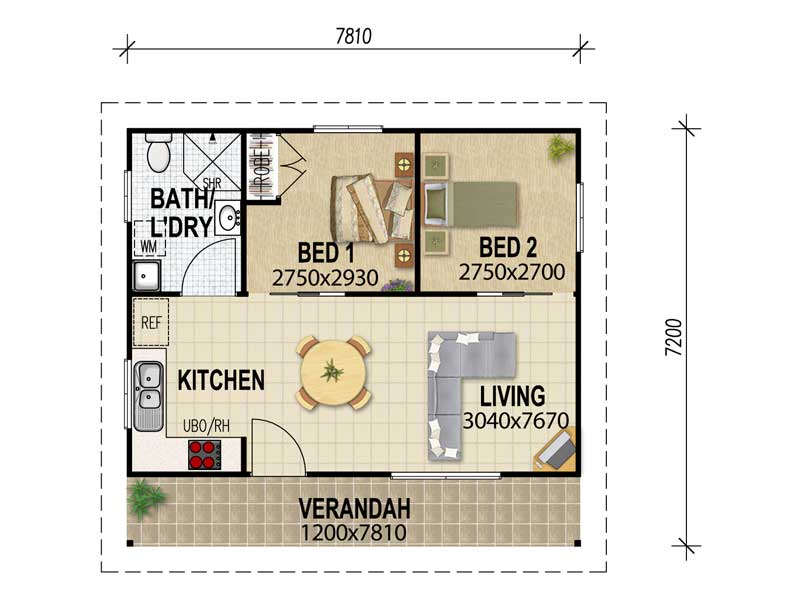 Traditional house layout 39 s for Granny flat house plans