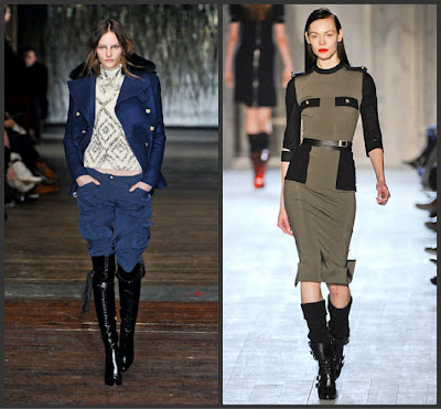 Military designs hit fall 2012 fashion