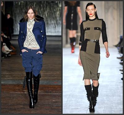Military designs hit fall 2012 fashion