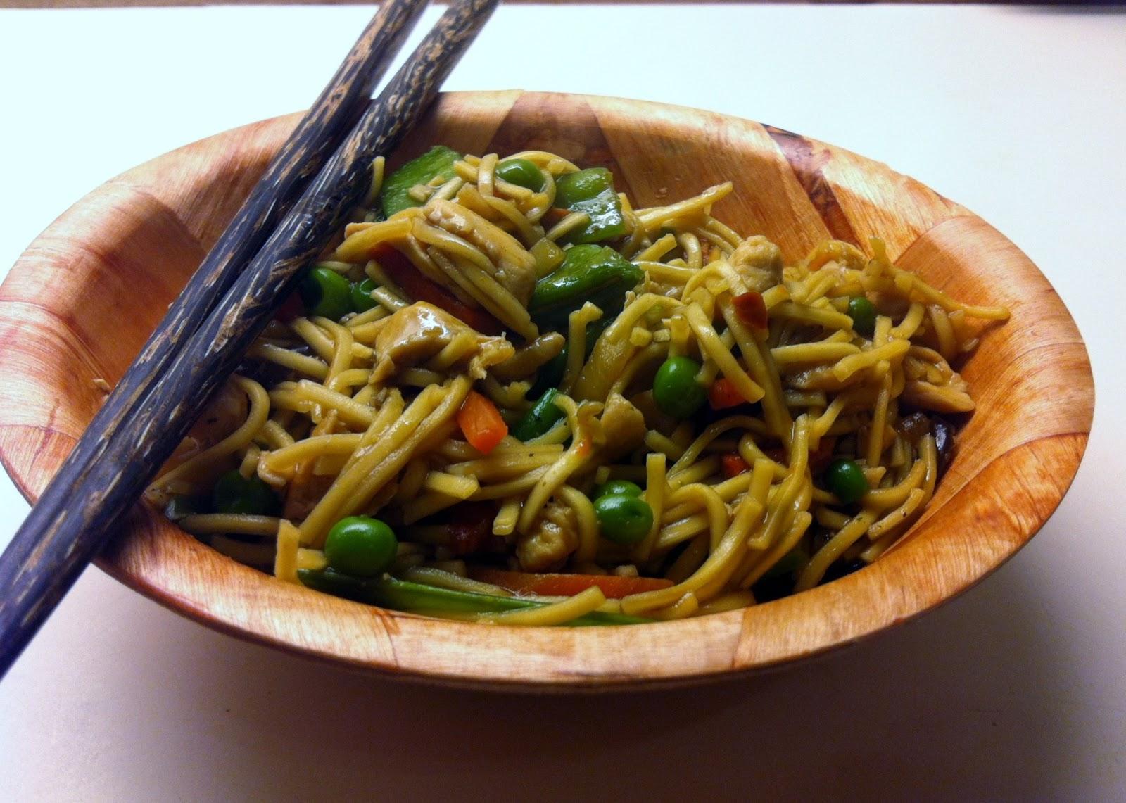 Kinesisk kyllinge wok