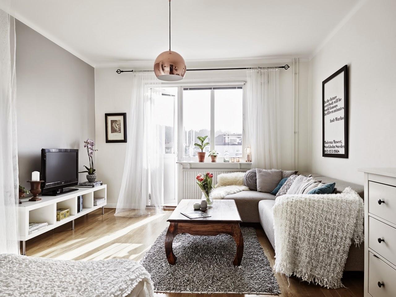 Inspiraci n deco blanco y gris en un apartamento de for Decoracion low cost