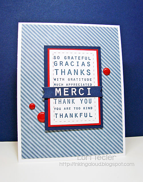 Merci card-designed by Lori Tecler/Inking Aloud-stamps from Papertrey Ink