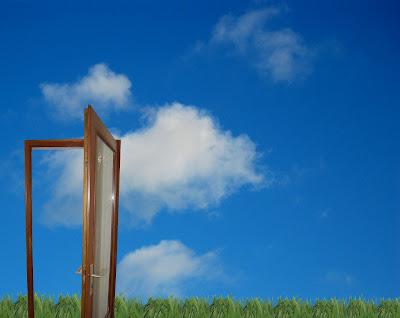 Door opening up to the sky