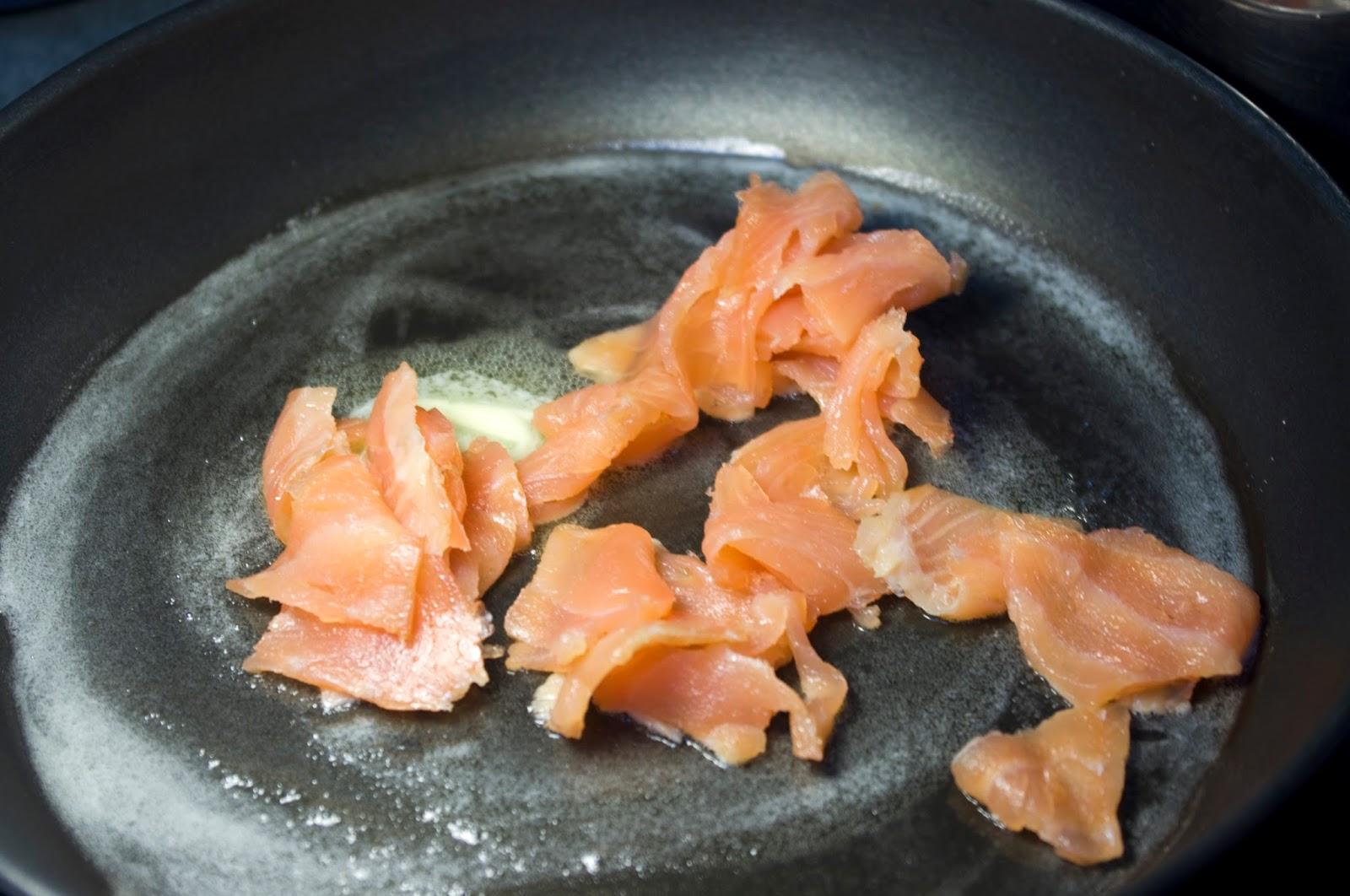 añadimos salmón