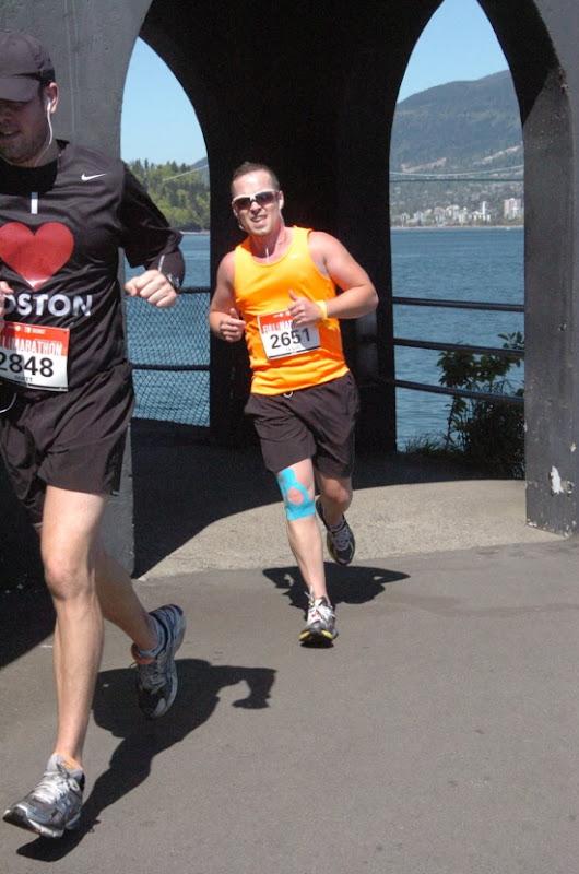 Final miles Stanley Park Vancouver Marathon