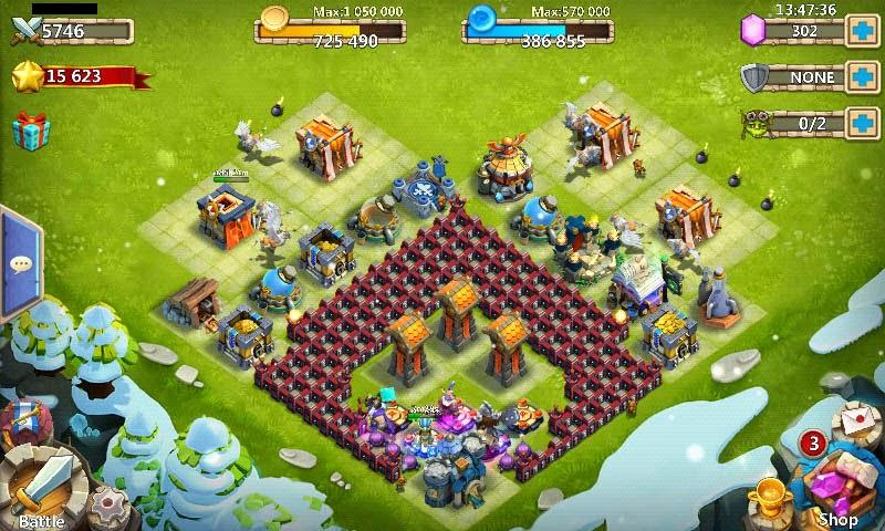 base castle clash benteng pertahanan HBM