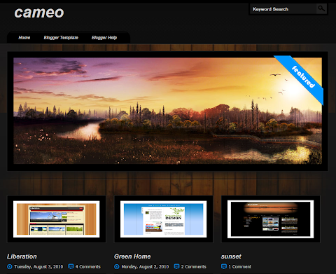 Cameo Blogger Theme