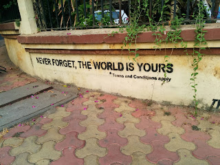 the world is yours, never forget, terms and conditions, fine print, cliches