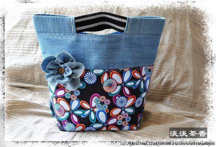 Muuuchas ideas para reciclar jean en bolsos