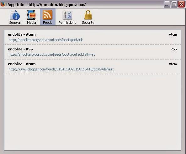 cara mengetahui alamat url feed blog, cara mengetahui alamat feed blog kita  endolita.blogspot.com