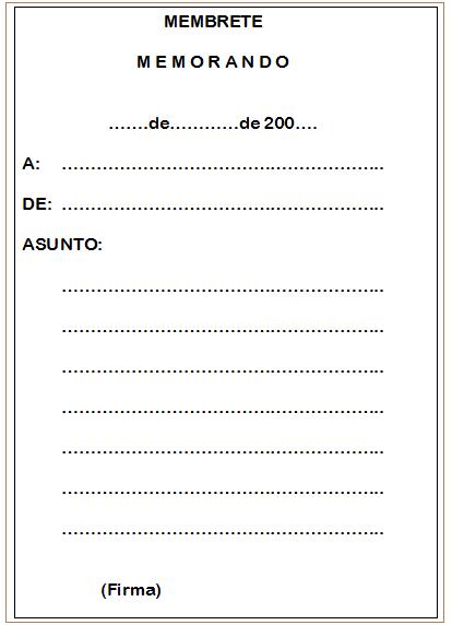 Todo en correspondencia memorando definici n y partes for Que tipo de espacio debe tener una oficina
