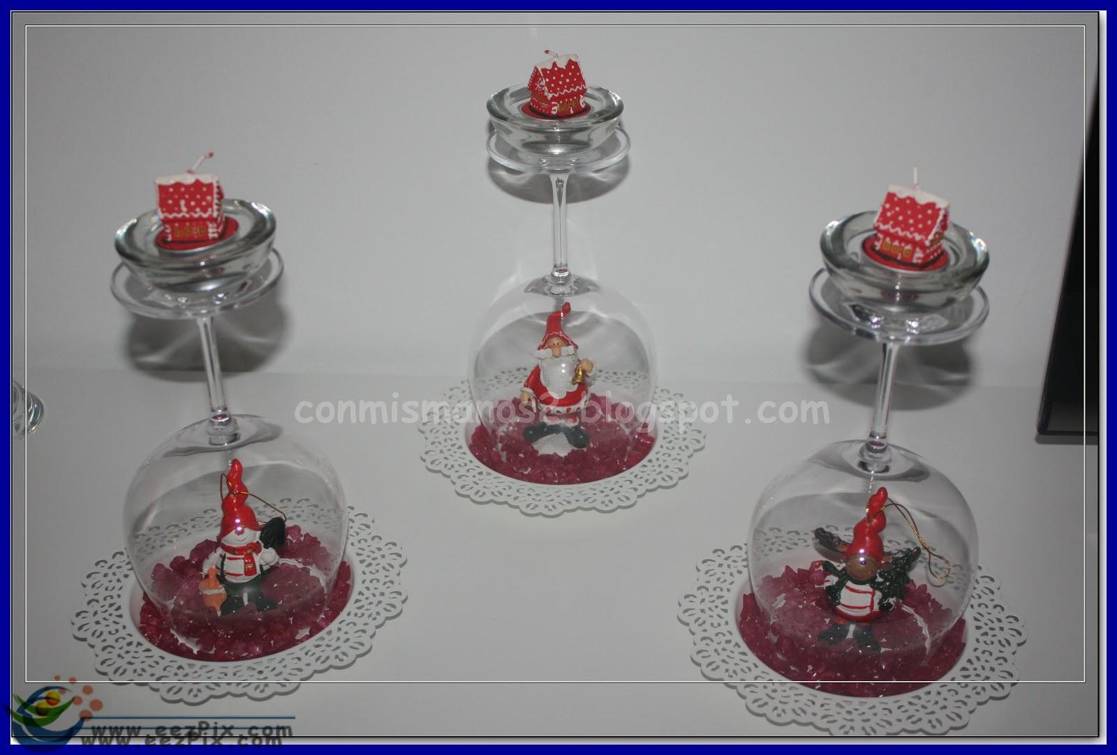 centro de mesa con copas y velas car interior design