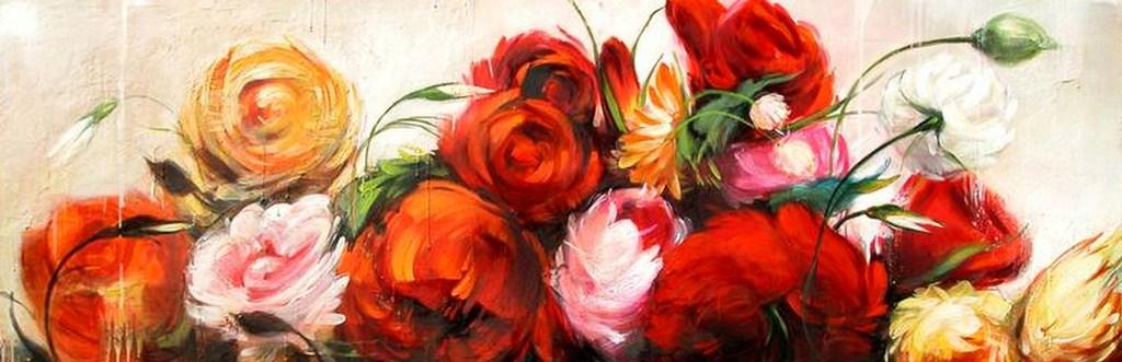 Paisajes y Bodegones: Pinturas Flores Grandes