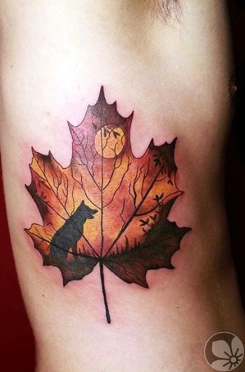 ♥ ♫ ♥  Leaf Wolf tattoo ♥ ♫ ♥