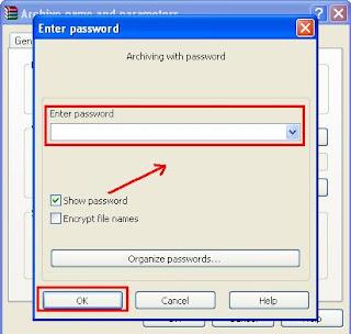 Cara Memberi Password di File yang di Winrar