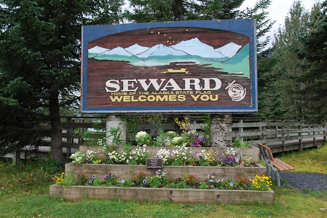 Seward Welcome Sign