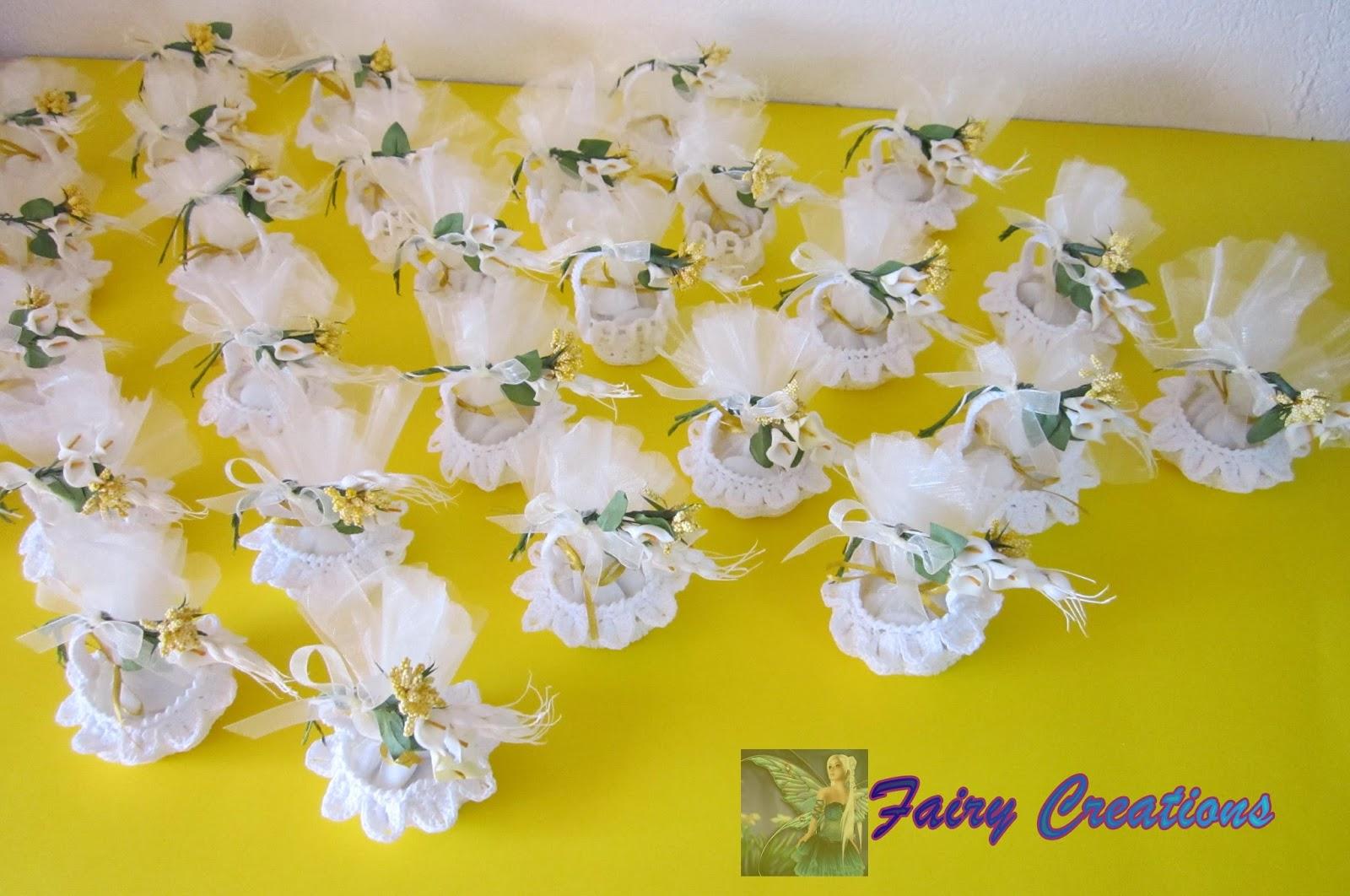 fairy creations: bomboniere alluncinetto, cestini all ...