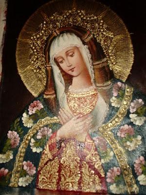 Retablo de la Virgen con un Manto de Flores