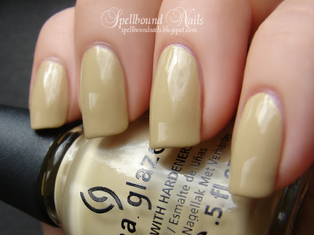 On Safari China Glaze collection khaki color nail polish nailart nails art tribal leopard print Spellbound swatch