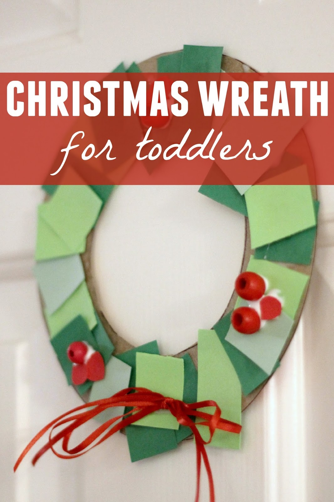 Toddler approved toddler christmas wreath making station for Christmas crafts for toddlers to make for parents