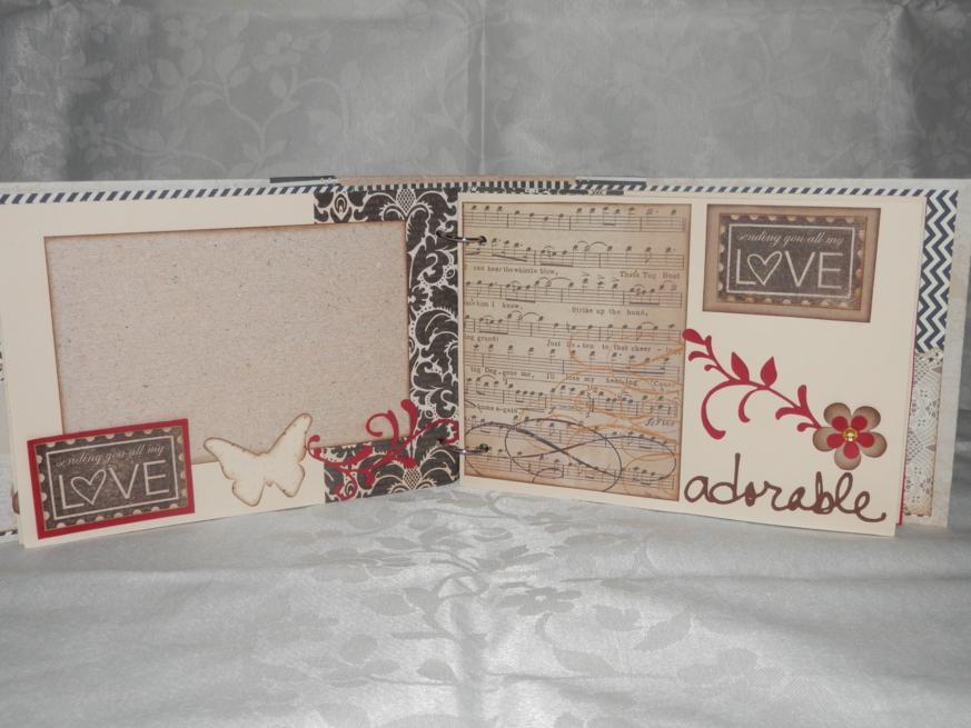 Samselua scrap lbum de fotos y libro de firmas para una boda - Manualidades album de fotos casero ...