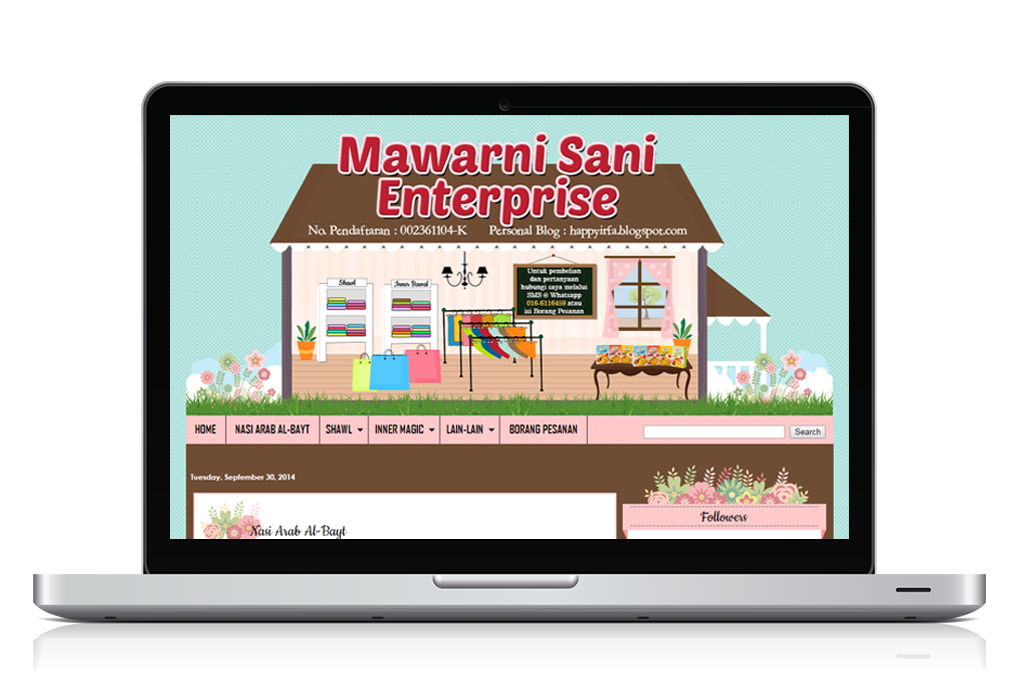 Tempahan edit blog - Mawarni Sani Enterprise