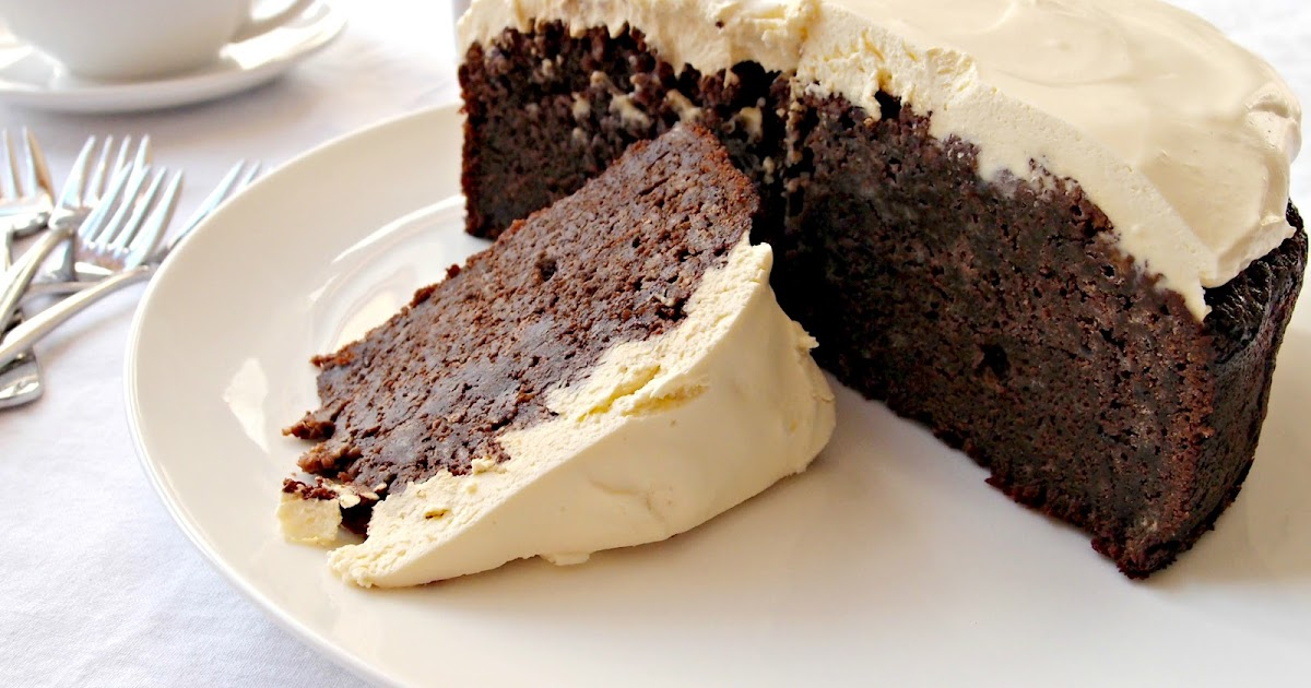 Chocolate Creme Fraiche Cake Topping