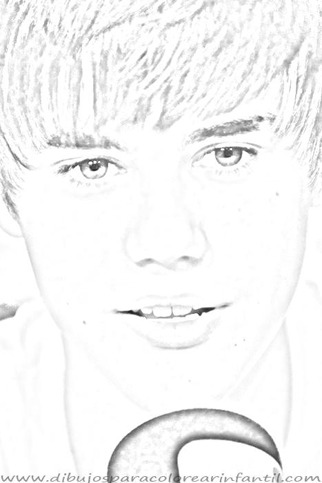 Justin Bieber Coloring