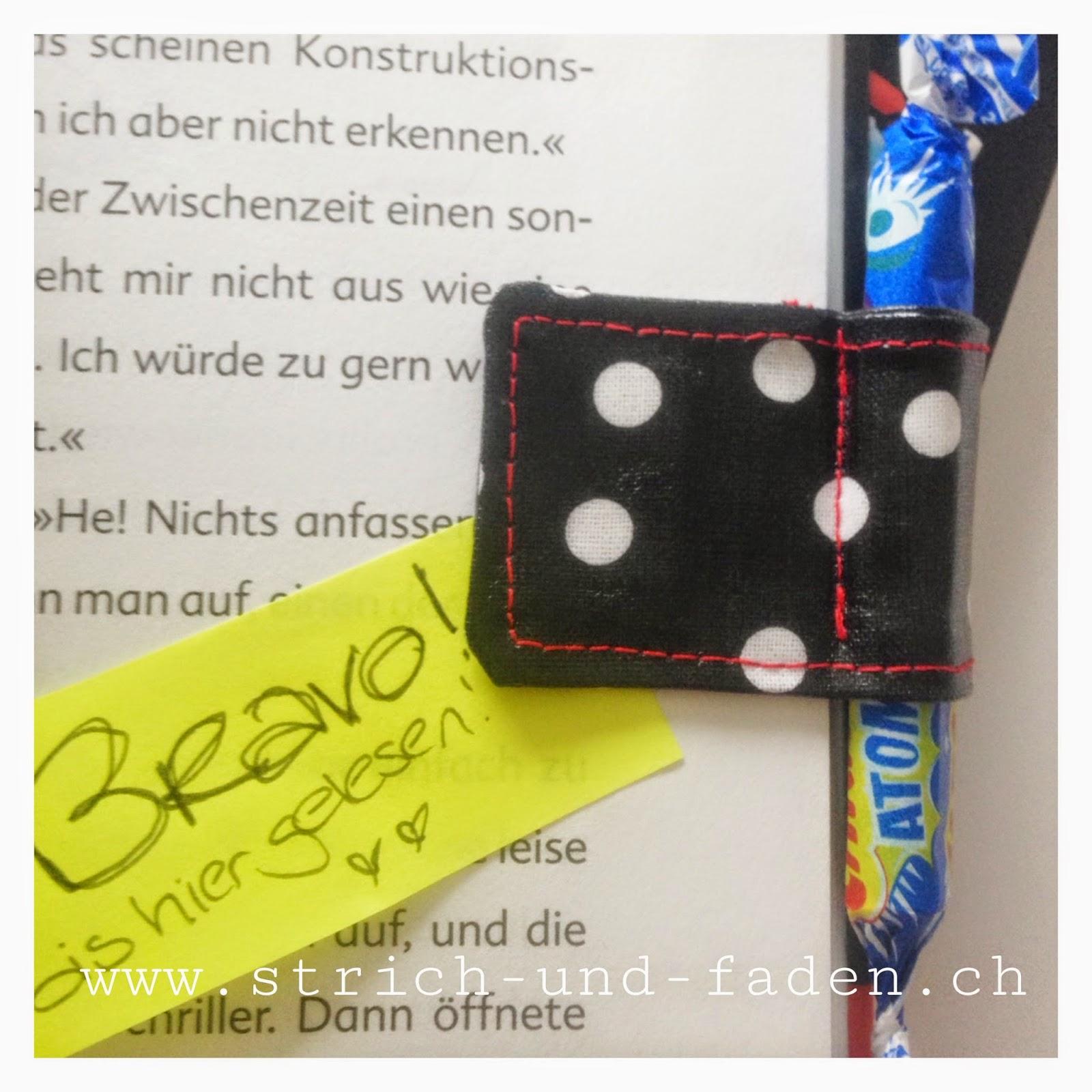 mit Strich und Faden | Süssigkeiten Magnet Lesemotivation