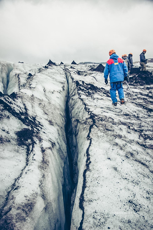 Tiefe Gletscherspalte