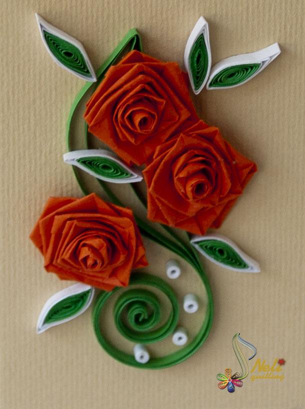 Как сделать розу из квиллинга своими руками 76