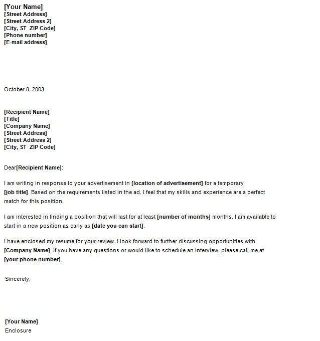 email cover letter to temp agency Sample cover letter to accompany your cv while you are sending your application to a placement agency.