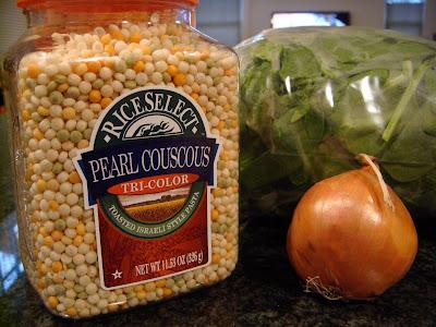 Tri-color Israeli couscous