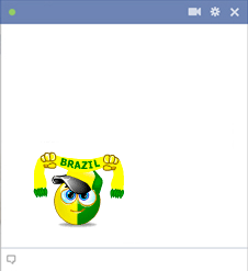Brazil football fan emoticon