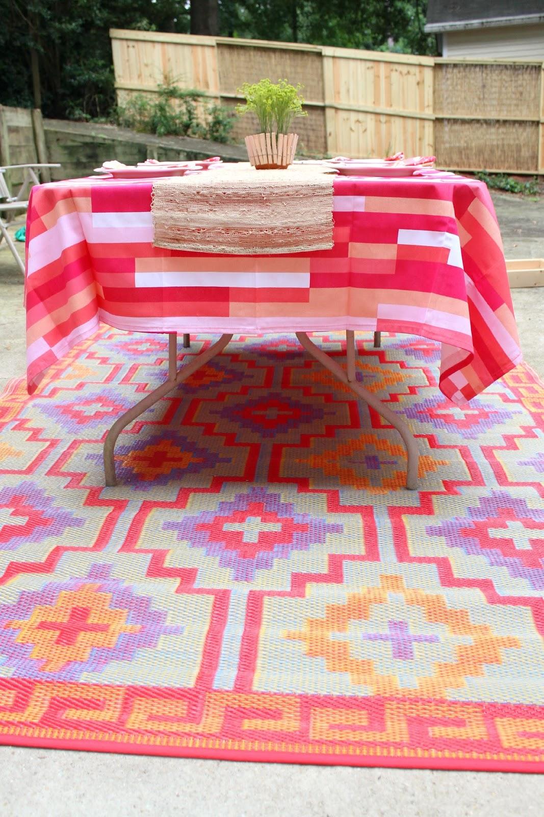 Ten June: Red + Pink Outdoor Patio Makeover