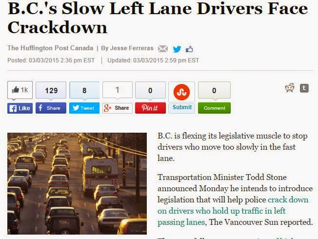 Huffpost slow left lane drivers