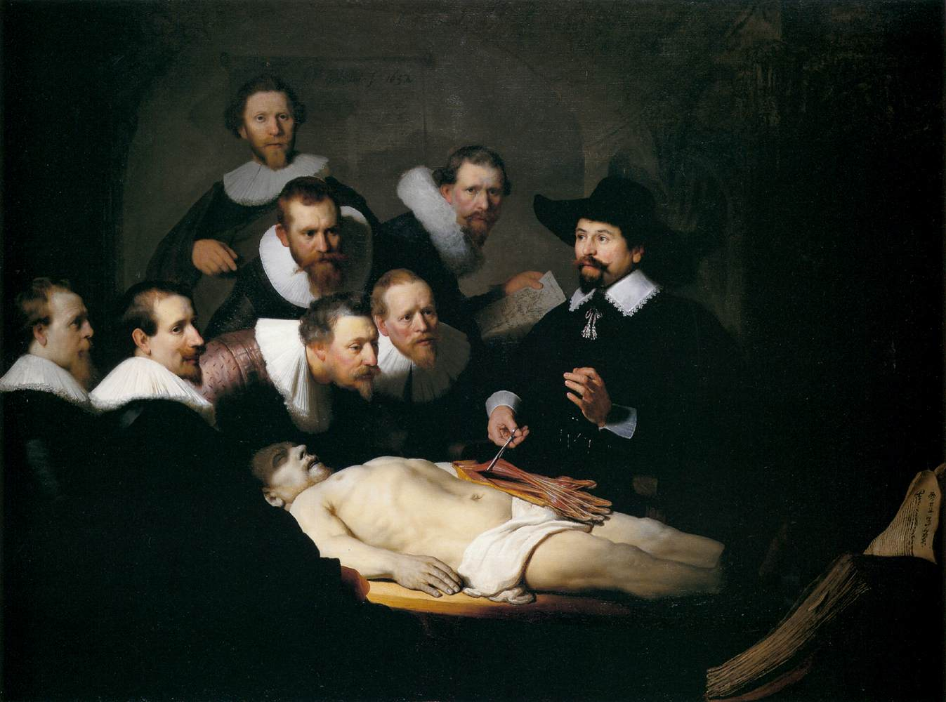 Más clases de arte: Rembrandt, La lección de anatomía del profesor ...