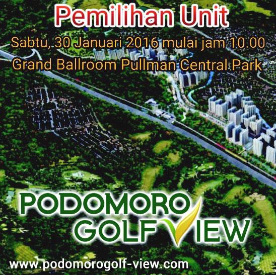 Pemilihan Unit Apartemen Podomoro Golf View Tower Balsa