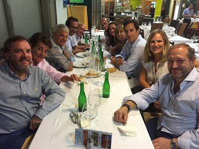 Josele, Elena (mi mujer), Manolo, Mario, Tiech, Alberto, Lara, María José, Fefe, Cinta y Ángel