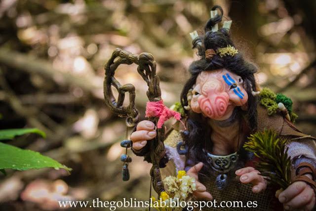 fantasy ooak magical creature healer goblin