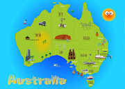 At tafe we were given a task to create a children's map of Australia. we had .